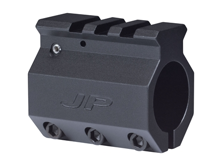 "JP Enterprises Adjustable Gas Block Picatinny Rail Sight Mounting AR-15, LR-308 Bull Barrel .936"" Inside Diameter Aluminum"