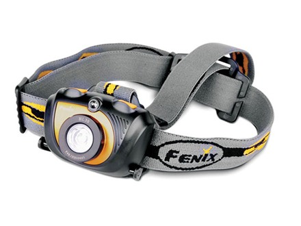 Fenix HL30 Headlamp White and Red LED Aluminum and Polymer Black
