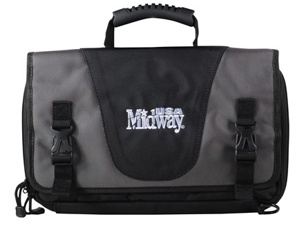 MidwayUSA Pro Series Tactical Pistol Case PVC Coated Polyester Gray and Black