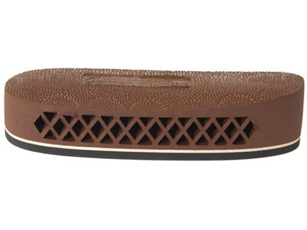 "Pachmayr F325 Deluxe Field Recoil Pad Grind to Fit 1.1"" Medium with White Line with Stippled Face Brown"