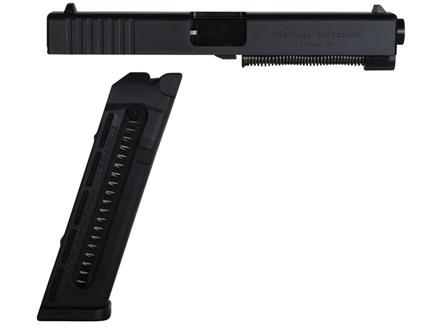 Tactical Solutions TSG-22 Rimfire Conversion Kit Glock 17, 22, 34, 35 22 Long Rifle with 15-Round Magazine Black Factory Refurbished