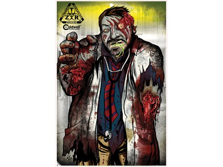 Caldwell ZTR Zombie Flake-Off Mad Scientist Target Package of 8