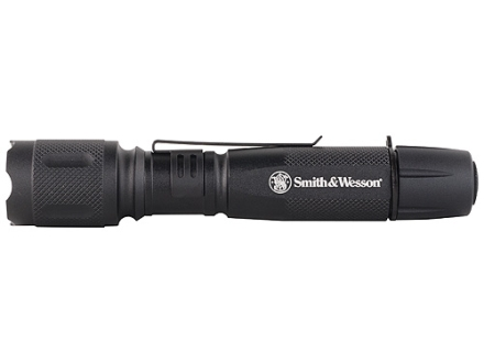 Smith & Wesson XPE Flashlight LED with 2 AA Batteries Aluminum Black