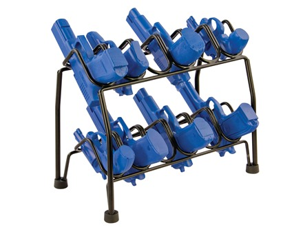 LOCKDOWN Pistol Rack 12-Gun (6-Gun Stackable) Vinyl Coated Steel