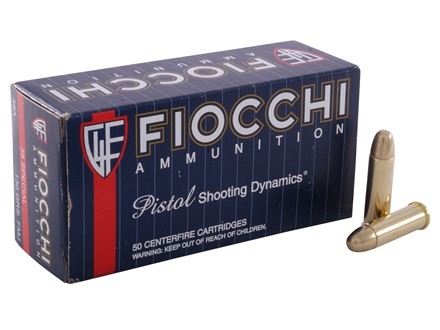 Fiocchi Shooting Dynamics Ammunition 38 Special 130 Grain Full Metal Jacket Box of 50