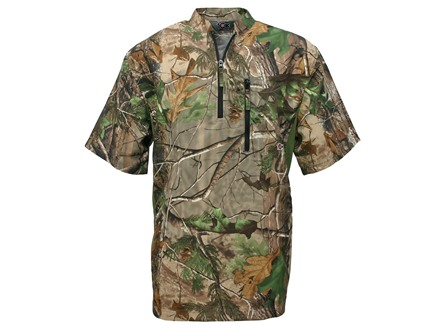 10X Men's Ultra-Lite Pullover Short Sleeve Polyester Ripstop Realtree APG Camo Large 42-44