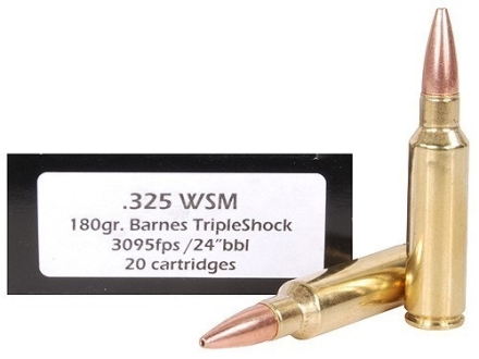 Doubletap Ammunition 325 Winchester Short Magnum (WSM) 180 Grain Barnes Triple-Shock X Bullet Box of 20