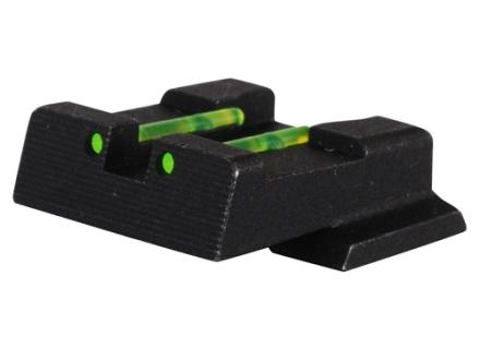 HIVIZ Rear Sight S&W M&P, M&P Compact, M&P L Steel Fiber Optic