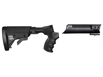 Advanced Technology Talon Tactical 6-Position Collapsible Stock and Forend Set with Triton Mount & Scorpion Recoil System Mossberg 500, 590, 835, Maverick 88 12 Gauge Black