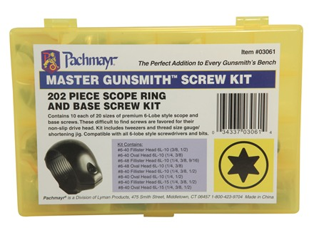 Pachmayr Master Gunsmith Torx Head Screw Kit Package of 141