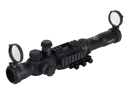 Counter Sniper Crusader Rifle Scope 30mm Tube 1-8x 30mm Side Focus First Focal Illuminated Duplex Reticle Matte with Mount