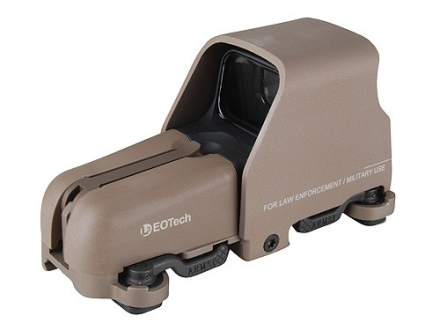 EOTech 553 Holographic Weapon Sight 65 MOA Circle with 1 MOA Dot Reticle Tan CR 123 Battery with Dual ARMS Throw Levers and 7mm Raised Base