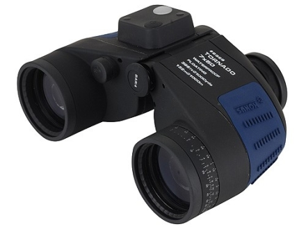 Konus Tornado Marine Floating Binocular 7x 50mm Porro Prism with Illuminated Compass and Range Finding Reticle Rubber Armored Blue