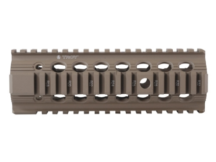 "Troy Industries 7.2"" Bravo Battle Rail Free Float Quad Rail Handguard AR-15 Flat Dark Earth"
