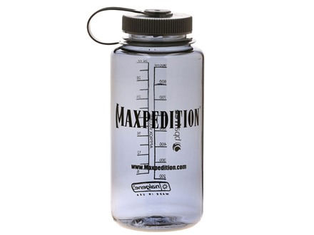 Maxpedition Nalgene Water Bottle 32 oz Wide Mouth Polymer Dark Gray