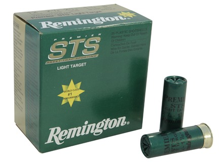 "Remington Premier STS Light Target Ammunition 12 Gauge 2-3/4"" 1-1/8 oz #8 Shot Box of 25"