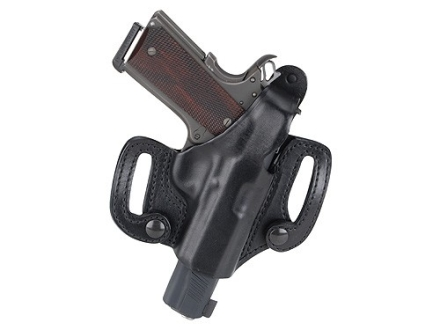 BlackHawk CQC Detachable Belt Slide Holster Right Hand Glock 17, 19, 22, 23, 26, 27, 33, 34, 35 Leather Black