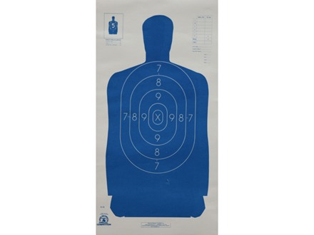 NRA Official Blue Silhouette Target B-29 50-Foot Paper Package of 100