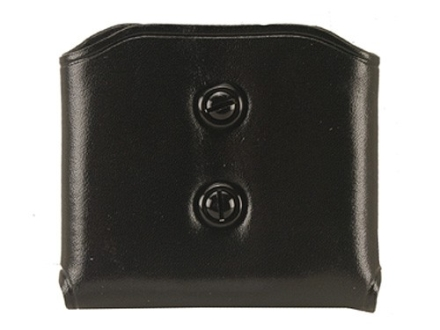 Galco DMC Double Magazine Pouch 45 ACP, 10mm Single Stack Magazines Leather Black
