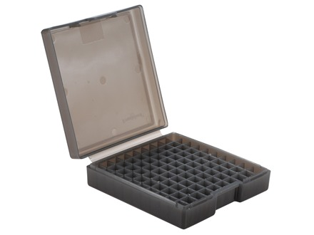 Frankford Arsenal Flip-Top Ammo Box #1001 30 Luger, 380 ACP, 9mm Luger 100-Round Plastic Smoke Box of 10