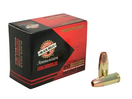 Black Hills Ammunition 9mm Luger +P 115 Grain Barnes TAC-XP Hollow Point Lead-Free Box of 20