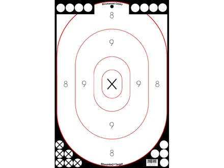 "Birchwood Casey Shoot-N-C White/Black 12"" x 18"" Silhouette Target Package of 5"