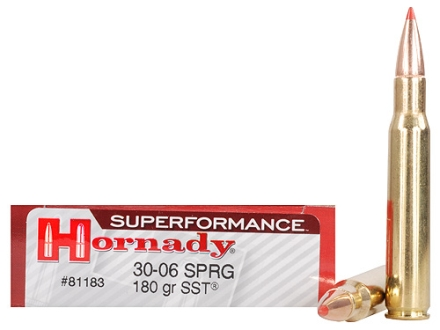 Hornady SUPERFORMANCE SST Ammunition 30-06 Springfield 180 Grain SST Box of 20