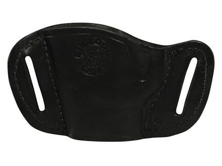 Bulldog Belt Slide Holster Fits Medium Frame Autos Right Hand Leather Black