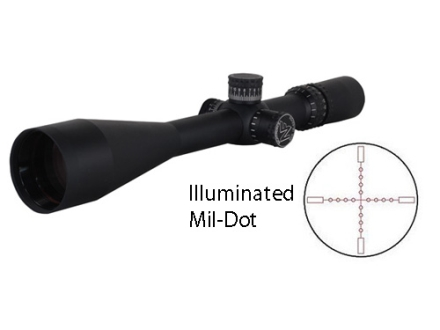 Nightforce NXS Rifle Scope 30mm Tube 12-42x 56mm Hi-Speed Side Focus Illuminated Mil-Dot Reticle Matte