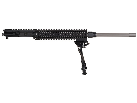 "Sabre Defence AR-15 Precision Marksman Upper Assembly 6.5 Grendel 1 in 9"" Twist 24"" Fluted Barrel Stainless Steel with Free Float Quad Rail Handguard, Harris Bipod, 25-Round Magazine"