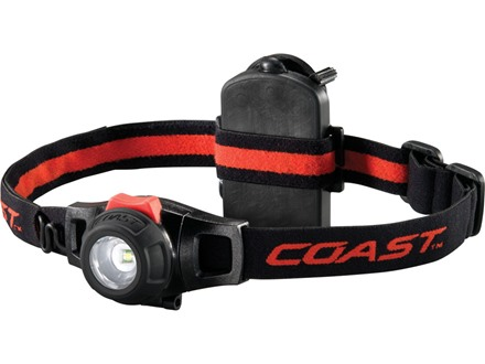 Coast HL6 Headlamp LED Variable Power with 3 AAA Batteries Aluminum Black