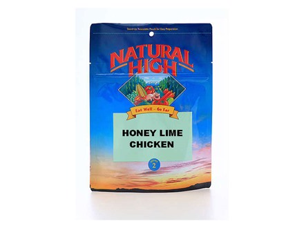 Natural High Honey Lime Chicken Freeze Dried Food 2 Servings