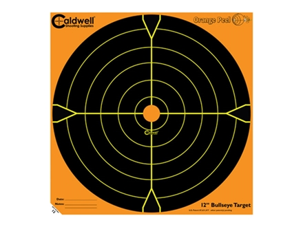 "Caldwell Orange Peel Target 12"" Self-Adhesive Bullseye Blister Package of 5"