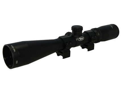 BSA Tactical Weapon Rifle Scope 30mm Tube 3.5-10x 40mm Mil-Dot Reticle Matte with Weaver-Style Rings