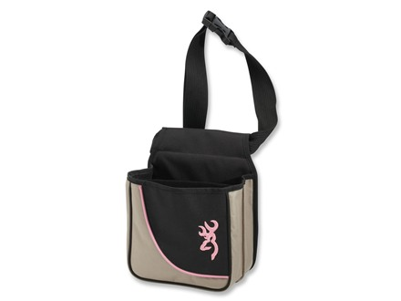 Browning Cimmaron For Her Shell Pouch Taupe/Black with Pink Trim