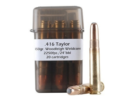 Doubletap Ammunition 416 Taylor 450 Grain Woodleigh Full Metal Jacket Box of 20