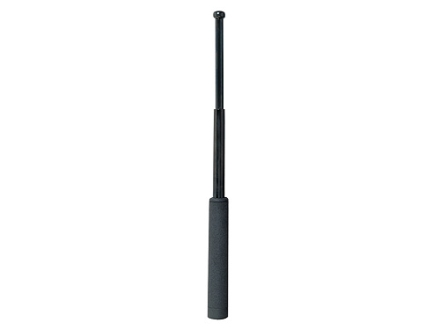 "ASP Friction Loc Baton 21"" Collapsible 4140 Steel Shaft Black Chrome Finish Dura Tec Grip Black"
