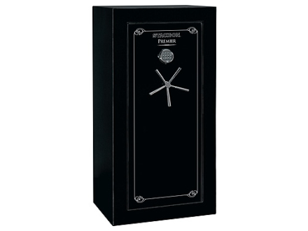 Stack-On Premier 24-Gun Fire-Resistant and Waterproof Safe with UL Rated Electronic Lock High Gloss Black