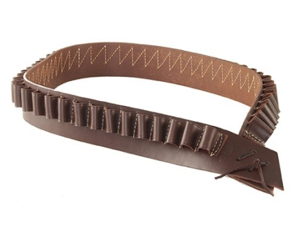 Hunter 712 Bandolero Shotshell Cartridge Belt 12 or 16 Gauge 50 Loops Leather Antique Brown