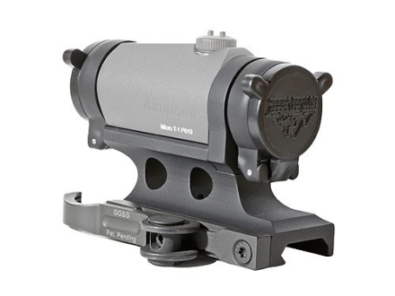 GG&G Accucam Quick-Detach Aimpoint Micro T-1, R-1, H-1 Sight Mount with Integral Flip-Up Lens Covers Picatinny-Style Matte