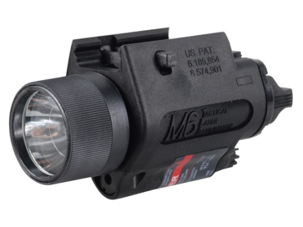 Insight Tech Gear M6 Tactical Illuminator Flashlight with Laser Halogen Bulb  fits Picatinny or Glock-Style Rails Polymer Black