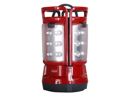 Coleman Quad LED Lantern without Batteries (8 D) Polymer Red and Gray