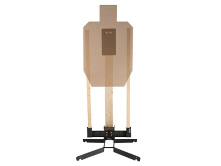 Challenge Targets HD Pivot Target Stand with Target Holder and Steel IPSC A Zone Rifle Plate