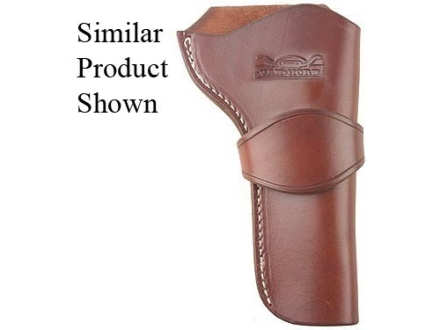 "Van Horn Leather High Ride Single Loop Crossdraw Holster 4.75"" Single Action Right Hand Leather Chestnut"