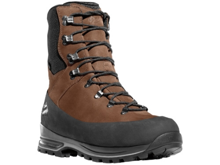 "Danner Full Curl 9"" Waterproof 400 Gram Insulated Hunting Boots Nylon Brown Men's 6 D"