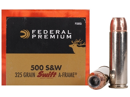 Federal Premium Vital-Shok Ammunition 500 S&W Magnum 325 Grain Swift A-Frame Jacketed Hollow Point Box of 20