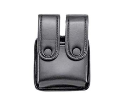 Uncle Mike's Double Magazine Pouch Double Stack Magazines Snap Closure Molded Insert Mirage Nylon Laminate Black