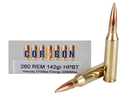 Cor-Bon Performance Match Ammunition 260 Remington 142 Grain Hollow Point Boat Tail Box of 20