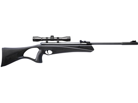 Crosman Raven Air Rifle .177 Caliber Polymer Stock Black Blue Barrel with Scope
