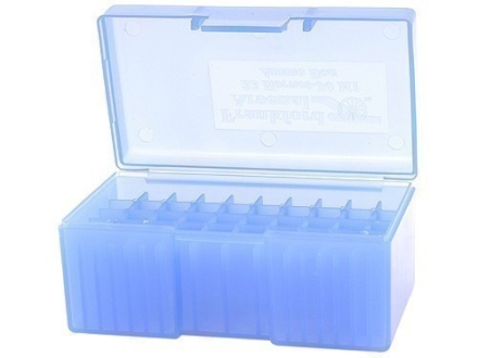 Frankford Arsenal Flip-Top Ammo Box #504 218 Bee, 221 Remington Fireball, 30 Carbine 50-Round Plastic